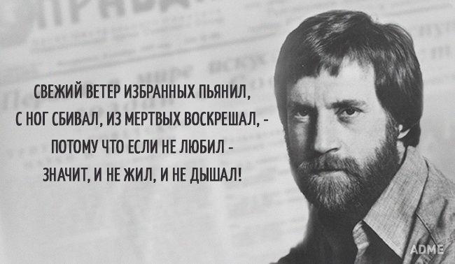 Несколько цепляющих цитат Владимира Высоцкого
