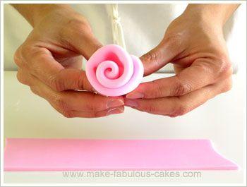 fondant ribbon rose