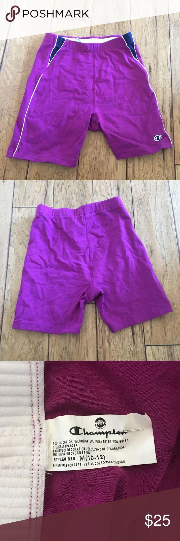 purple champion compression shorts Vintage Stretch purple champion compression shorts Vintage Logo Women's Medium Stretch Gym Run Champion Shorts