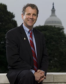 Sherrod Brown. I love his mop of curls, boyish smile, and gravelly voice!
