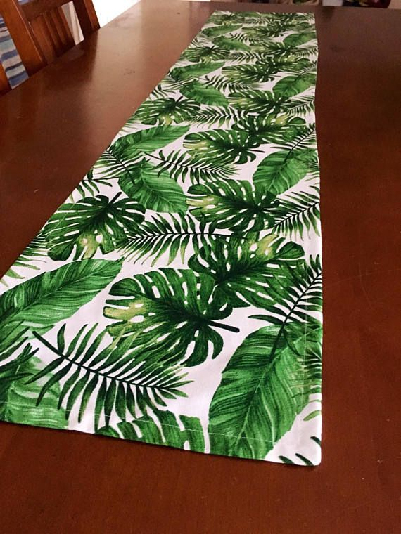 New Jungle Style Table Runner Made In Australia Agave Foliage Tropical Resort Succulent Aloe Vera Gift Crazy Plant Lady Tropical Table Runners Table Runners Tropical Foliage