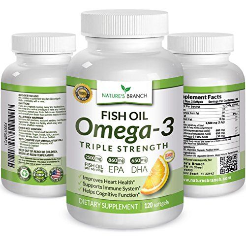 Best triple strength omega 3 fish oil pills 2500mg high for Epa dha fish oil