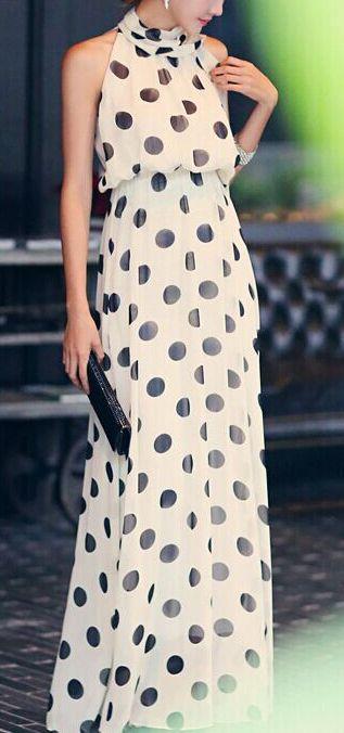 ● POLKA DOTS maxi dress