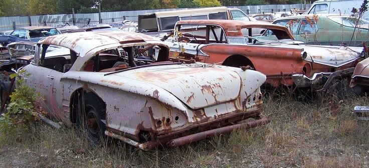 Abandoned Race Cars