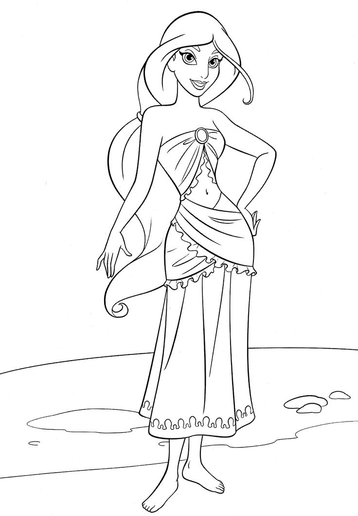 disney princess jasmine coloring pages - 223 best images about coloring disney on pinterest
