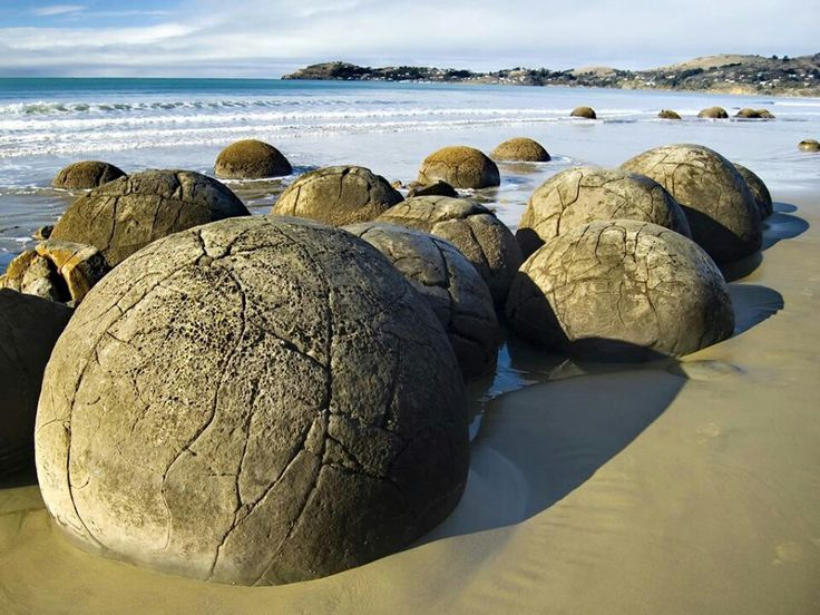 Rocas Moeraki. Nueva Zelanda