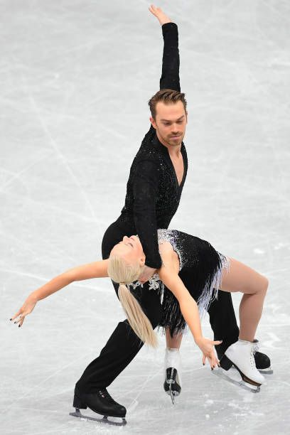 Penny Coomes and Nicholas Buckland of Great Britain compete in the Ice dance short dance during the ISU Grand Prix of Figure Skating at on November...