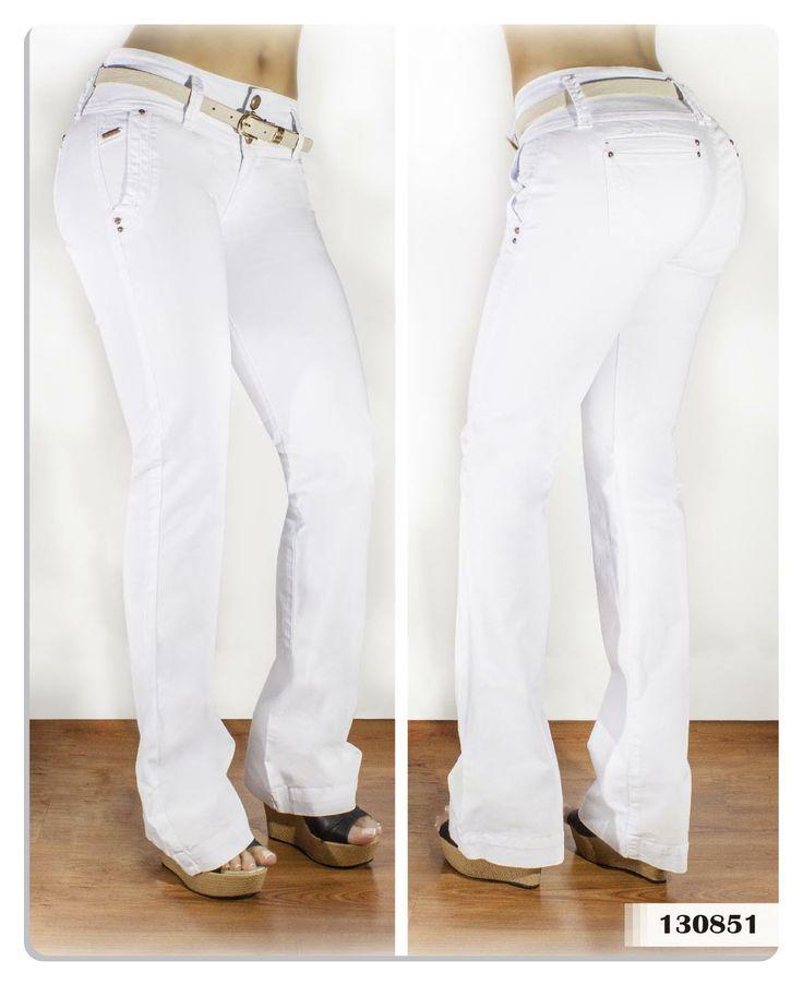 Pantalón blanco para mujer bota campana-Sexy, yet Casual #Fashion #sexy #woman #womens #fashion #neutral #casual #female #females #girl #girls #hot  #hotlooks #great #style #styles #hair #clothing  www.ushuaiajean.com.co