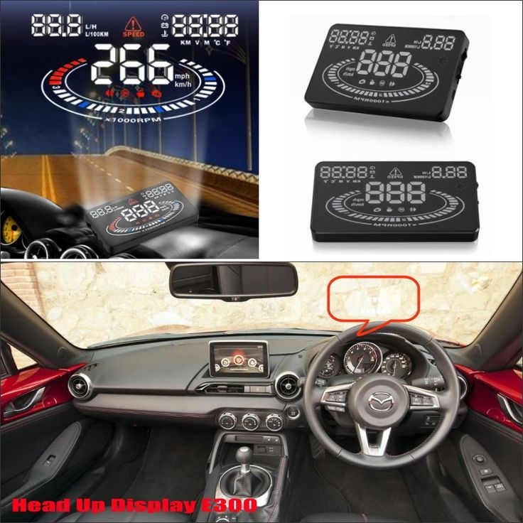 65.00$  Buy here  - For Mazda MX 5 2015 2016 - Safe Driving Screen Special Automobile HUD Head Up Display Projector Refkecting Windshield