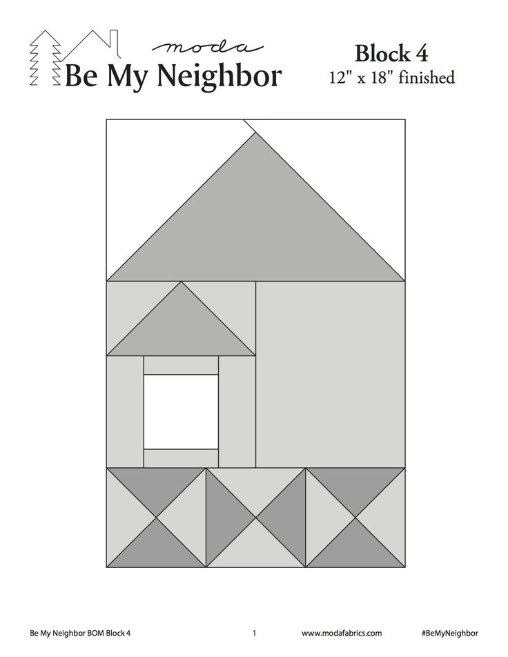 This is Block #4 of Moda's Be My Neighbor Block of the Week.