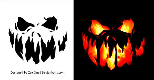 45+ Free printable pumpkin carving patterns scary ideas in 2021