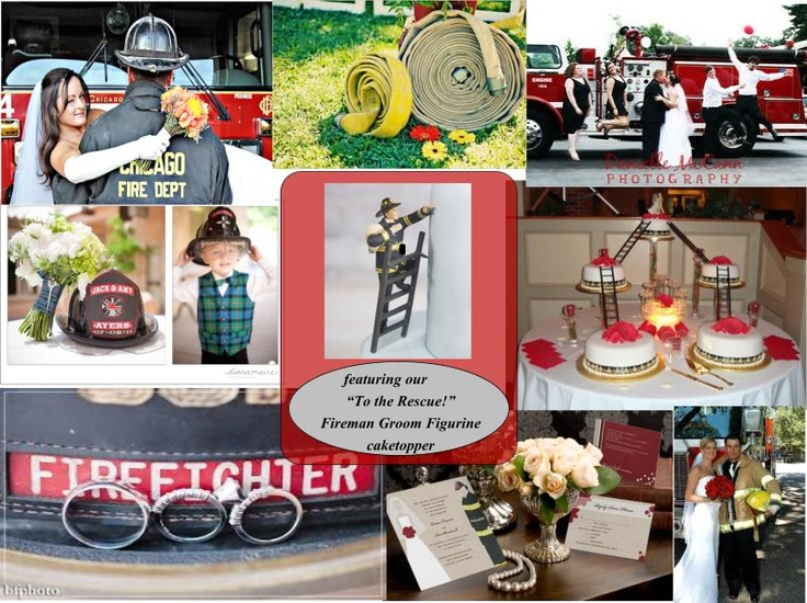 Great Ideas For The Marriage Of A Fireman! #weddings #weddingidea  #firemanwedding