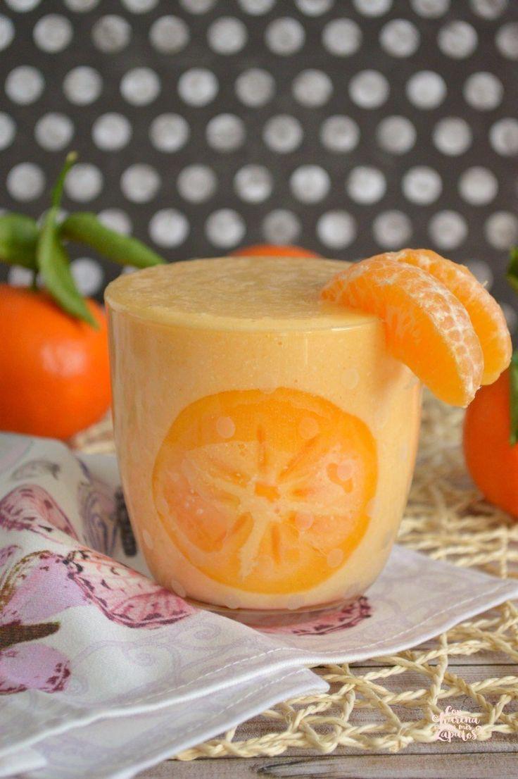 Batidoy  de mandarina y caqui