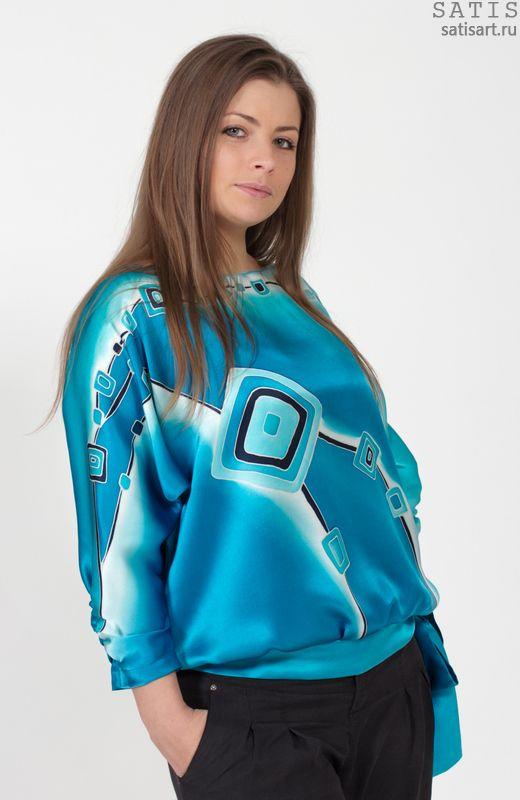 18c110869d2 Блуза вечерняя из натурального шелка - купить в интернет магазине Сатис