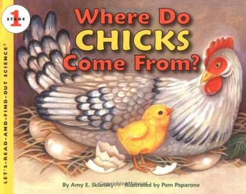 Where Do Chicks Come From? (Let's-Read-and-Find-Out Science 1) by Amy E. Sklansky http://www.amazon.com/dp/0064452123/ref=cm_sw_r_pi_dp_JlQdub0XWKQWV