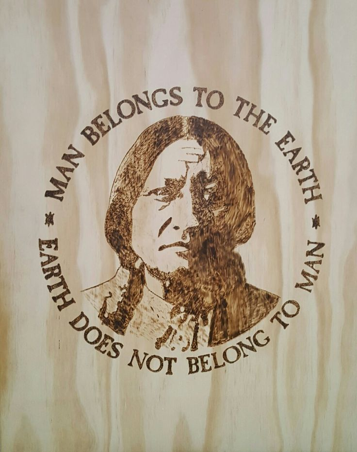 American indian pyrography by hady al hayek