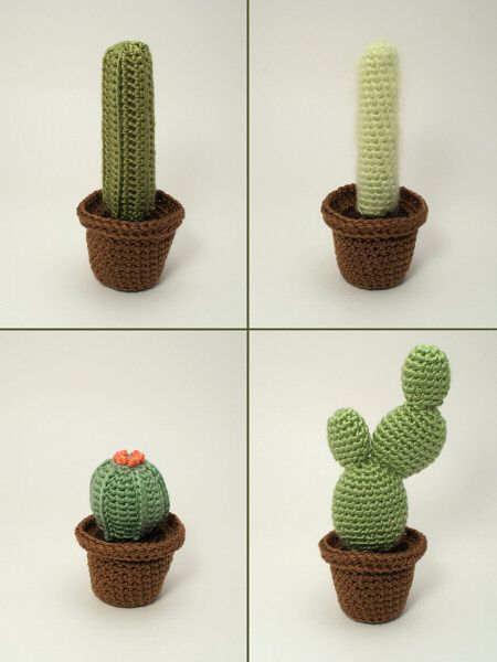 Cactus Collections 1 and 2 - EIGHT crochet patterns