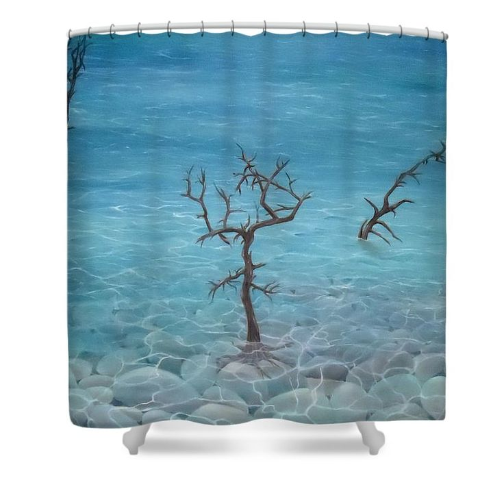 Shower Curtain,  bathroom,accessories,unique,fancy,cool,trendy,artistic,awesome,beautiful,modern,home,decor,design,for,sale,unusual,items,products,ideas,blue,coastal,sea,trees,stones,pebbles