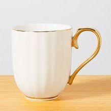 Celebrate Scalloped Mug - White