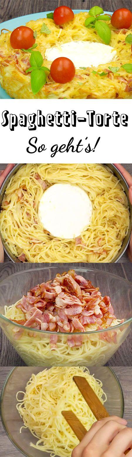 Dürfen wir vorstellen, das neue Lieblings-Fingerfood auf jeder Party: Spaghetti-Torte. Mit unserem Rezept machst du den Snack mit Hilfe einer Springform zu Hause selbst!