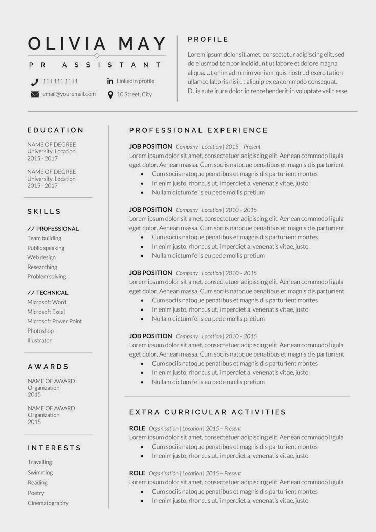 Professional Resume Example Instant Download 1 Page Resume Example For Ms Word Diy Resume Exam In 2020 Resume Words Resume Template Professional Resume Template Word