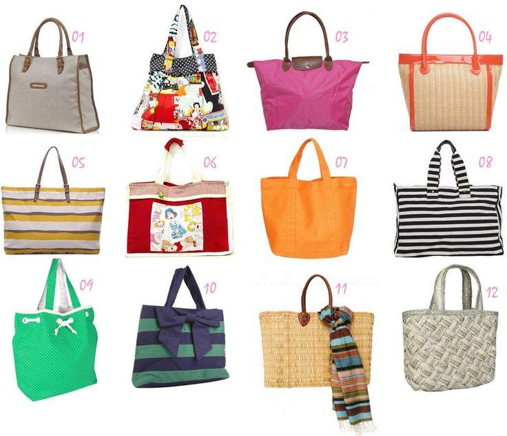 fotos modelos de bolsas de praia verão 2014