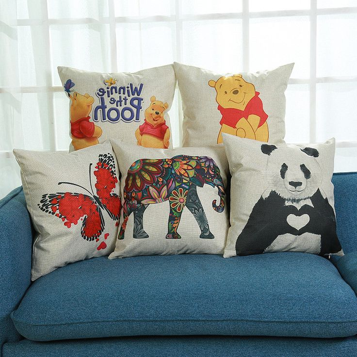 Find More Cushion Cover Information about Vintage Decorative Home Linen Pillow Case Cover Living Room Bed Chair Seat Throw Cushion Panda Butterfly Elephant Pillowcases,High Quality throw cushions,China pillow case cover Suppliers, Cheap panda pillowcase from WK HomeTextiles Store on Aliexpress.com