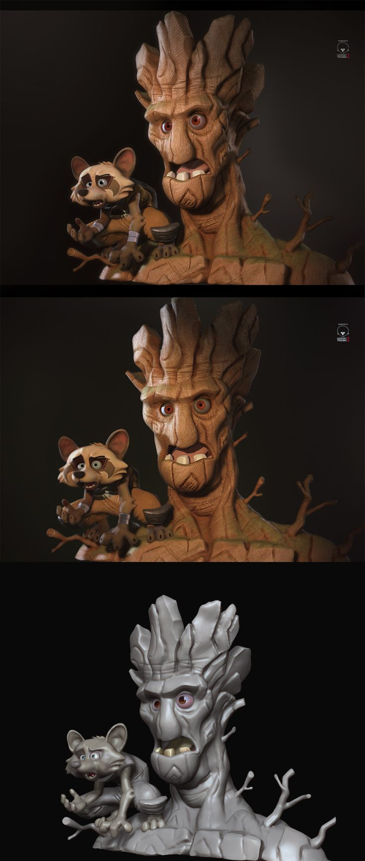 Rocket and Groot by Antone Magdy