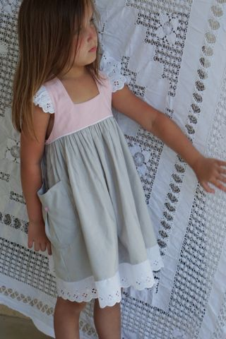 Well Dressed Wolf Aunt Heart Dress 2T PINK