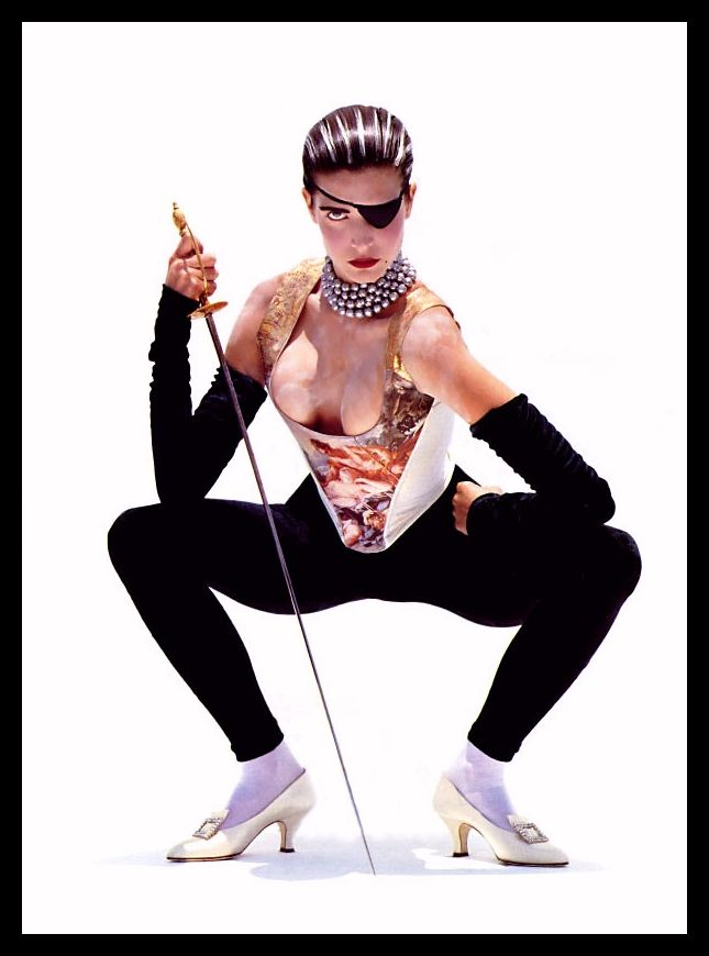 ☆ Stephanie Seymour | Photography by Herb Ritts | For Vogue Magazine UK | September 1990 ☆