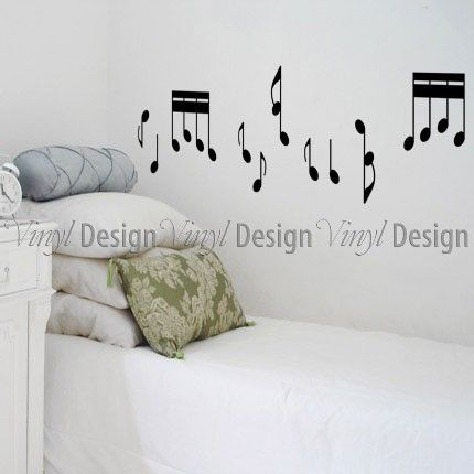 Musical Notes Wall Decal | Elegance | Vinyl Wall Designs | Vinyl Design