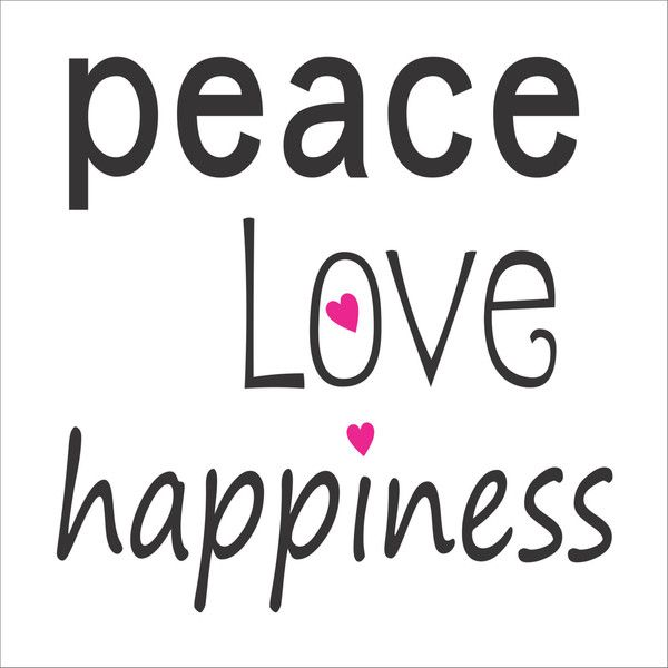 Peace Love Happiness Sign Stencil 7 Sizes Available Use Your Favorite... ($15) ❤ liked on Polyvore featuring home, home decor, home & living, home décor, light yellow, outside home decor, peace hand sign, peace sign, outdoor signs and hand signs