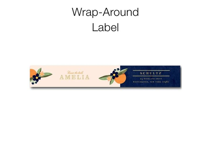 Sweet Nectarine - Personalized Address Labels in Stormy Blue or Slate | Elk Design