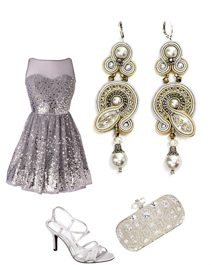 Sprinkle some sparkly inspiration into your evening ensemble.... #DoriCsengeri #glitter #sparkle #styling #evening #elegant #accessories #silver #styling