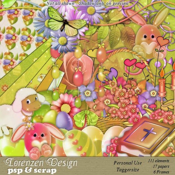 Lorenzen Design PSP & Scrap: Spring/Easter Sparkling Kit