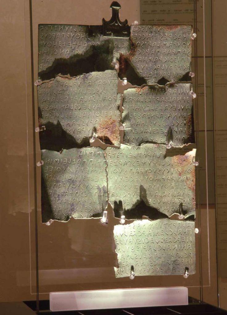Cortona Tabula Cortonensis Museo Accademia Etrusca