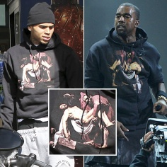 Chatter Busy: Chris Brown's Religious Hoodie: A Kany West Copy ?