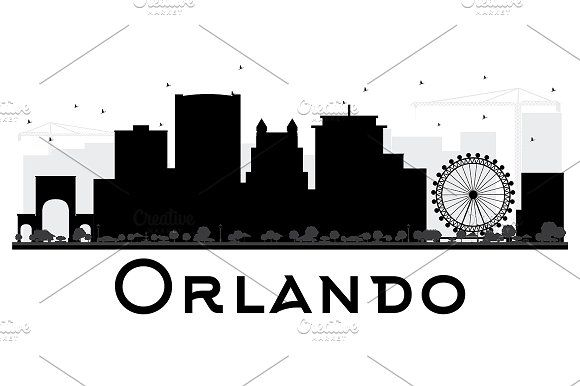 #Orlando #City #skyline #silhouette by Igor Sorokin on @creativemarket