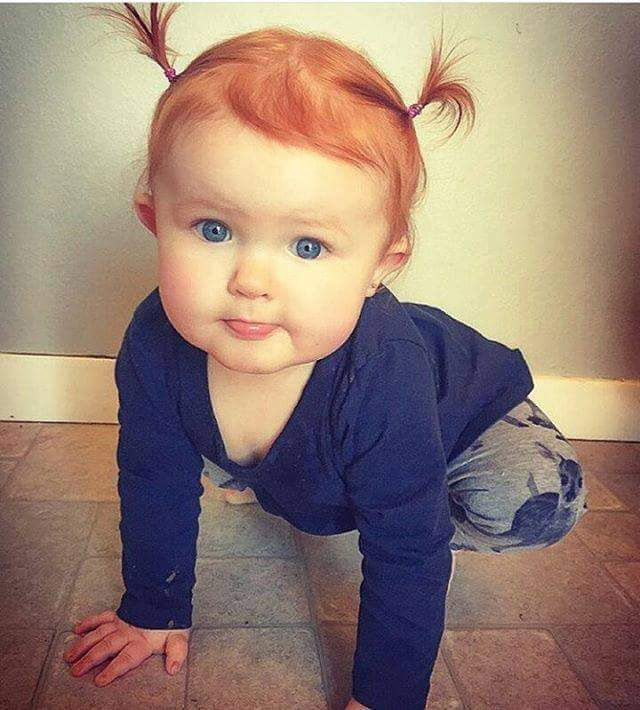 Cutie!  I love red haired babies. ❤️