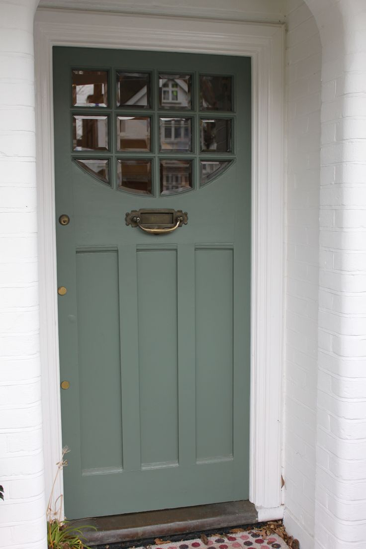 1920s 1930s front door with beveled clear glass in south for 1930s front door styles