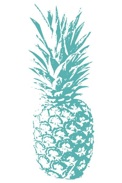 Teal pineapple Art Print - Create your own Converse @ www.unickz.nl