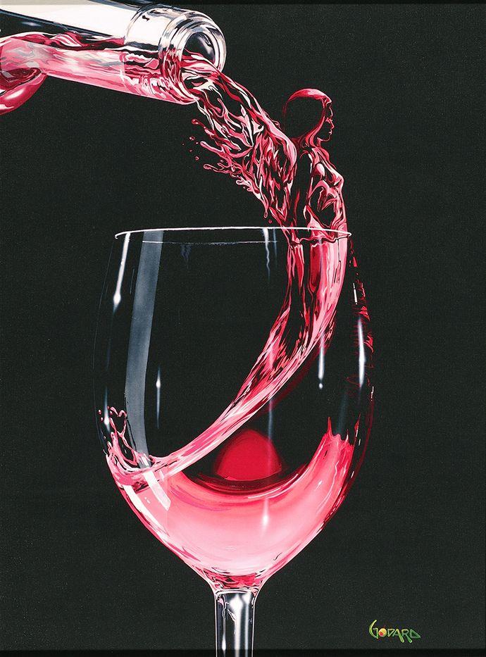 кого картинка бокал с розовым вином показывает, что реже