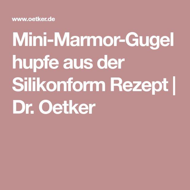 Mini-Marmor-Gugelhupfe aus der Silikonform Rezept | Dr. Oetker