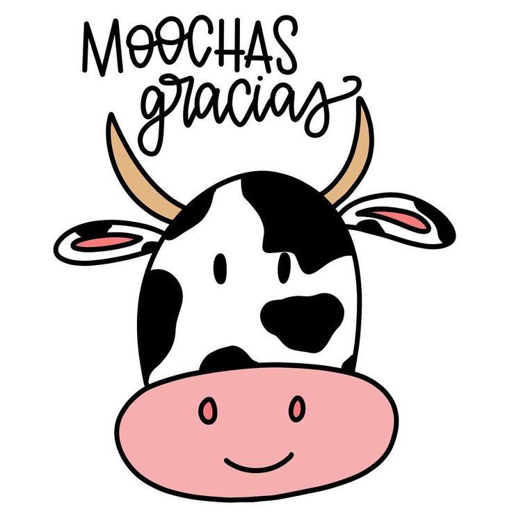 moochas gracias muchas thank you card cow pun funny joke