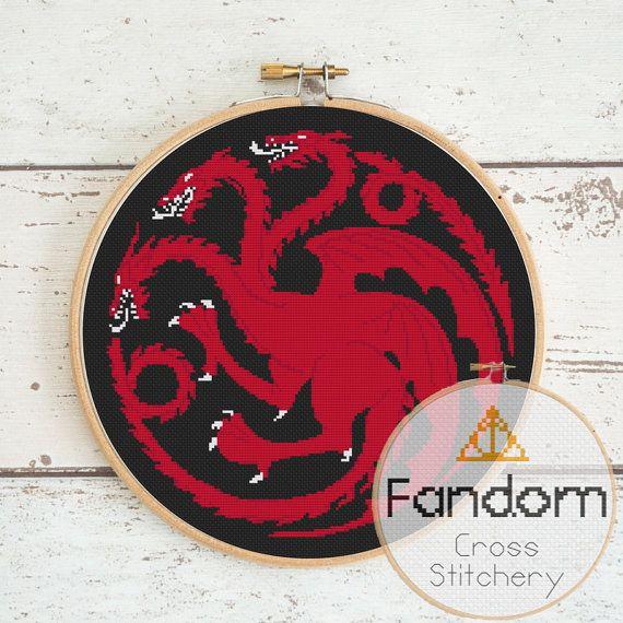 Targaryen House Sigil Cross Stitch Pattern