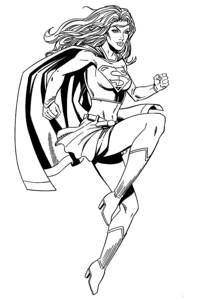 Hawkgirl Coloring Page - Free DC Super Hero Girls Coloring Pages ... | 991x700