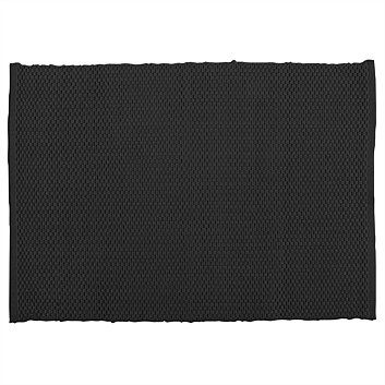 Briscoes - Simon Gault Ribbed Black Placemat