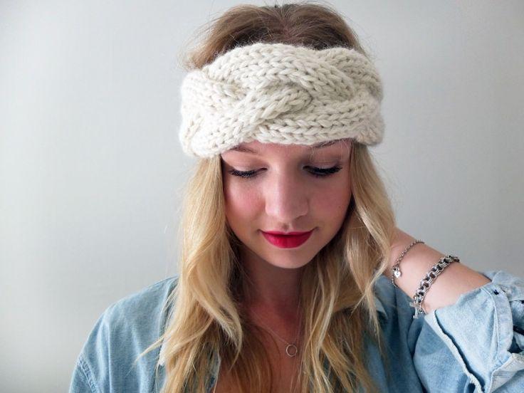 Simcoe Braided Headband, pattern by Good Night, Day.  Alpaca wool from Americo. #knitting #DIY #knitwear