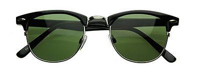 ZeroUV - Vintage Half Frame Semi-Rimless Horn Rimmed Optical RX Sunglasses