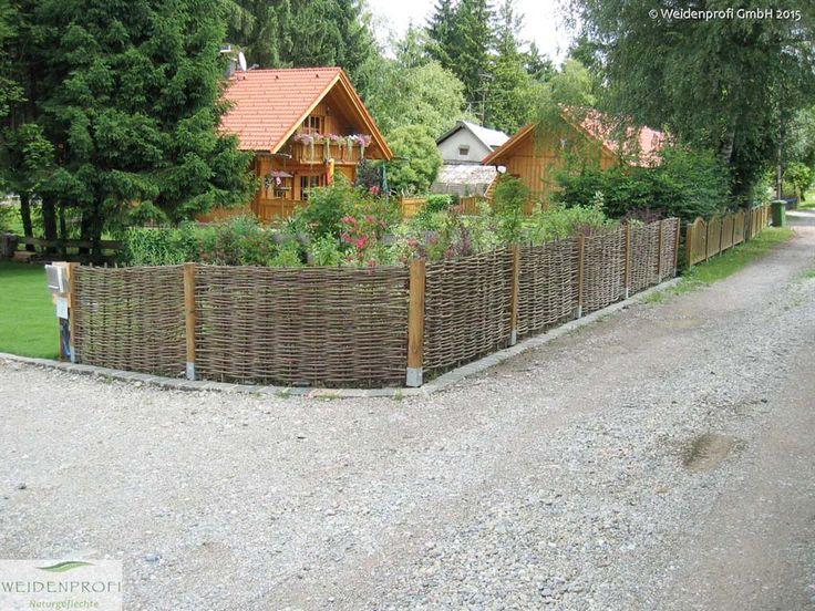 Elegant Bildergarlerie Serie BALDO Weidenz une ohne Rahmen rustikaler und nat rlicher Sichtschutz f r den Naturgarten